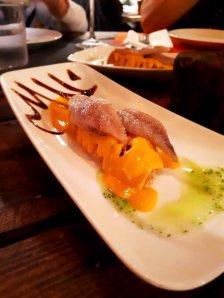 sardina con salmorejo