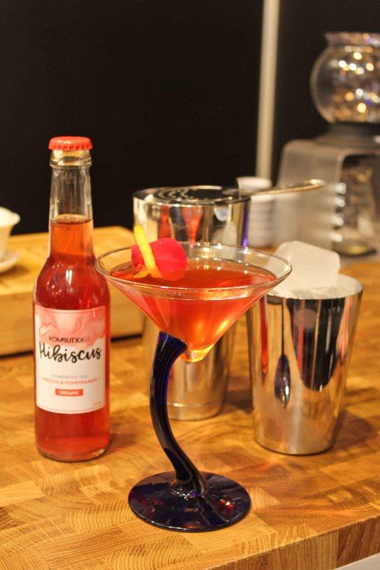 Vodka y Kombutxa de hibiscus